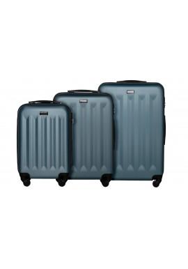Zestaw walizek Benelux silver blue