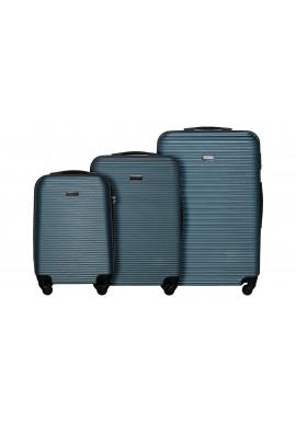 Zestaw walizek Sierra Madre silver blue